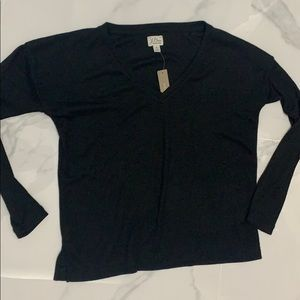 J crew v neck long sleeve